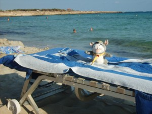 Just relaxing on the beach - Cyprus