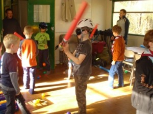 14th Wallington made their own Lightsabers