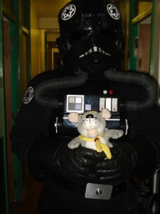 A Tie Fighter Pilot. He was very gentle with me