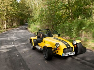 Caterham 7 in road trim