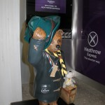 A Scouting Bear with Sutton District Scarf .